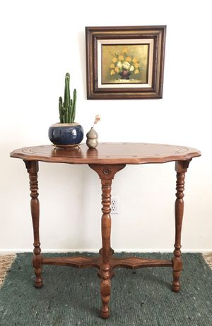 Vintage wooden engraved console or entry table for Sale in Phoenix, AZ
