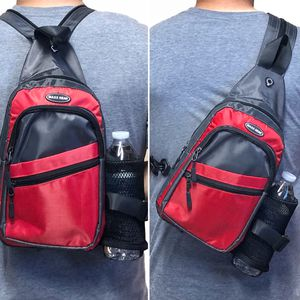 NEW! Small Compact 2 in 1 Backpack Crossbody chest side bag travel gym work bag hiking biking water bottle holder day pack for Sale in Carson, CA