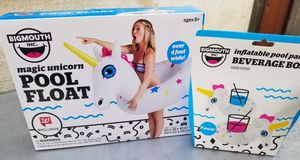 Unicorn pool float and beverage boat for Sale in Torrance, CA