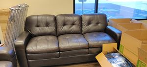 Leather sofa and armseat in like new condition for Sale in Avondale, AZ
