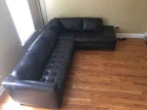 Leather sectional couch for Sale in Kennesaw, GA