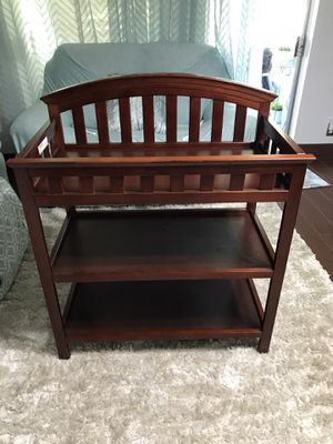 Changing table cherry wood for Sale in Plantation, FL