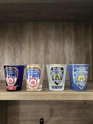 Collection of Fire / Police Shot Glasses for Sale in Vancouver, WA