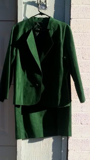 Green suede suit for Sale in Scottsdale, AZ