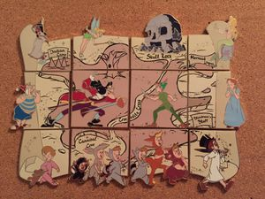 Disney Peter Pan 65th Neverland Map Puzzle Pin Set for Sale in Sunnyvale, CA