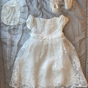 Glamulice Christening Baptism White Baby Dress for Sale in Miami, FL
