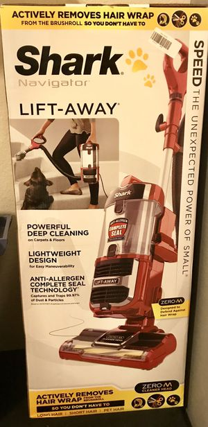 Shark Navigator Upright Vacuum with Lift-Away, Zero-M Anti-Hair Wrap Technology, Anti-Allergen + HEPA Filter and Swivel Steering Red Peony Retails for Sale in Mansfield, TX