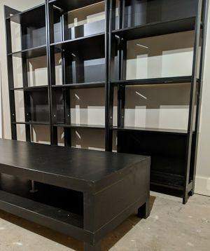 Ikea furniture set - shelves, table, picture frame shelves for Sale in Lilburn, GA