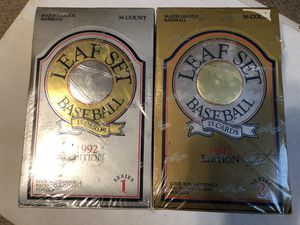 1992 Leaf Baseball Card series 1 & 2 for Sale in Zanesfield, OH