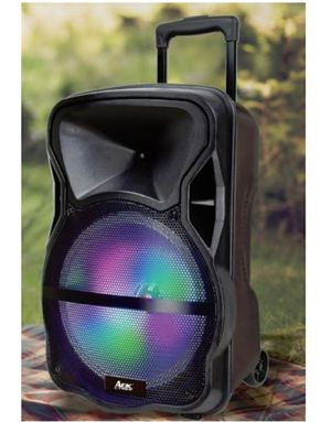 """New 15"""" trolley Bluetooth with wireless mic, aux, usb, fm radio, remote control for Sale in Riverside, CA"""