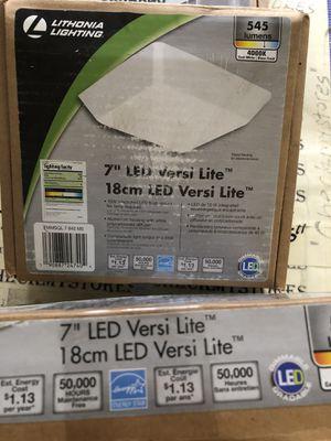 "3X Lithonia Versi Lite 7"" 9-Watt Textured White Integrated LED Flush Mount for Sale in Rochester, NY"