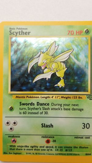 Pokemon jungle set Scyther for Sale in Stafford Township, NJ