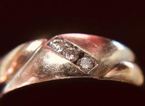 Men's 14k white-yellow Gold Diamond ring. for Sale in Springfield, VA