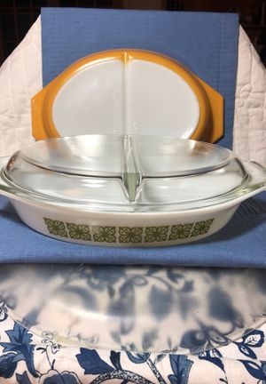 2. PYREX Divided Vintage Casseroles for Sale in Texas City, TX
