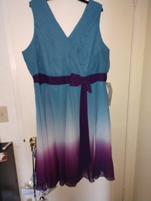 Ombre dress blue purple and white size 24 for Sale in San Leandro, CA