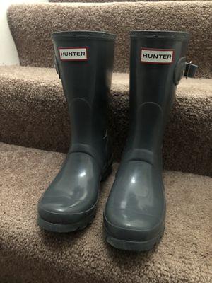 Hunter rain boots (women size 5, gray) for Sale in Oakmont, PA