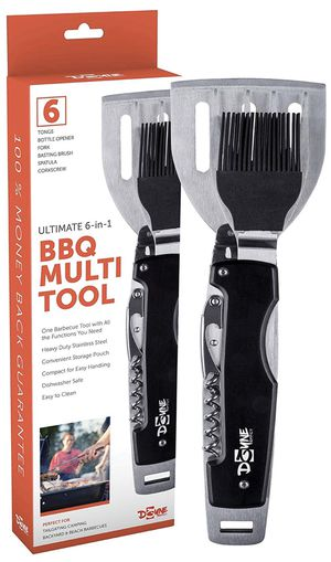 New BBQ Tool is a 6 in 1 Multi Tool Grill Accessory in Heavy Duty Stainless Steel Perfect for Tailgating, Camping and Outdoor Barbecues for Sale in Phoenix, AZ