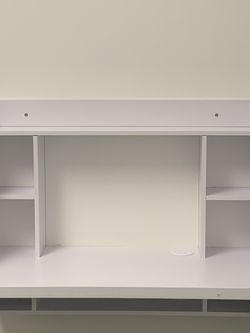 Haotian FWT18-W, White Drop-Leaf Table Desk for Sale in Philadelphia,  PA