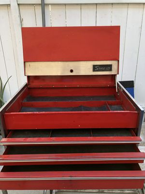 Snap-On Tool Box : 27 in. W x 13 in. H 18 in. D and 28 in. H with the lid open as in the picture for Sale in Chula Vista, CA