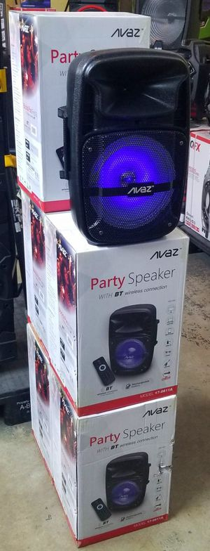 "Brand new 8"" portable party speaker. Bluetooth. USB. Aux connnection. Lights. Remote control and microphone included. 1000 watts. for Sale in Miami, FL"