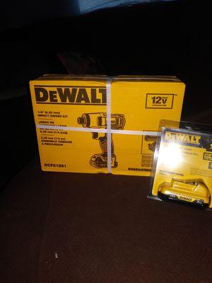 12V dewalt drill extra battery for Sale in Salt Lake City, UT