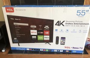 """TCL - 55"""" - Roku Smart TV - excellent condition for Sale in Hoffman Estates, IL"""