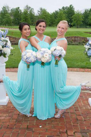 Spa Blue David's Bridal Bridesmaid Dress - Size 0 for Sale in Sterling, VA
