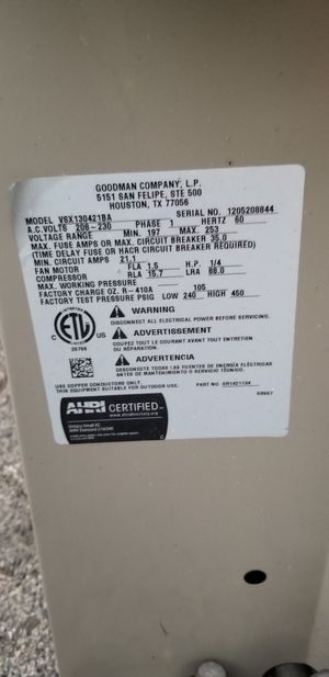 Condenser 410a for Sale in Los Angeles, CA