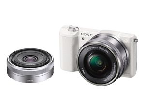 Sony Alpha a5100, 24.3MP, white digital camera bundle for Sale in Clifton, NJ