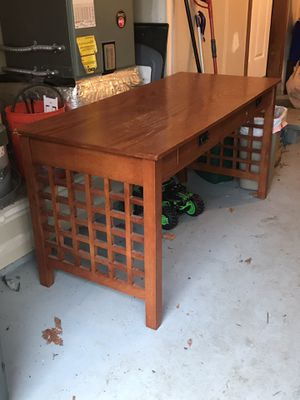 Wood desk - particle board- but heavy for Sale in Tacoma, WA