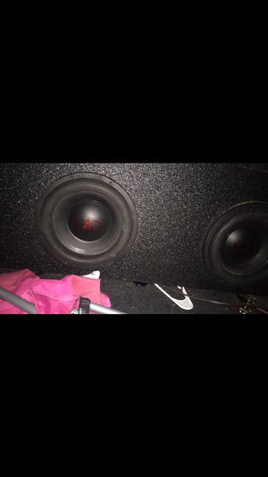 Pro box w 10 inch dB subs bang hard 200 obo need gone today for Sale in Pasadena, TX
