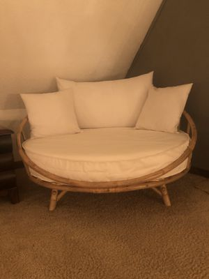 Round bamboo lounger for Sale in Cary, NC
