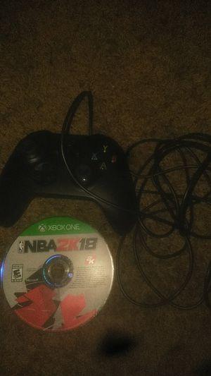 Xbox one wireless and 2k18 for Sale in Wichita, KS