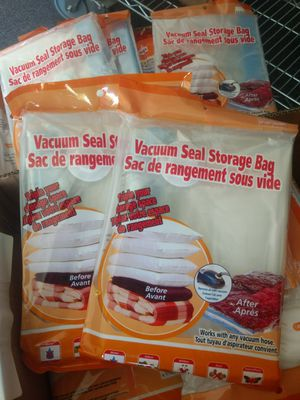 Brand new $10 for 10 vacuum space saver clothes blanket storage bags closet organizer various sizes available for Sale in Montebello, CA