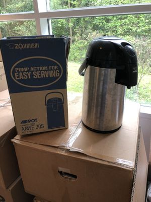 3 Liter Air Pot Thermos for hot coffee or tea, made in Japan for Sale in Rockville, MD