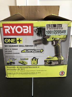 Ryobi Hammer Drill for Sale in Houston, TX