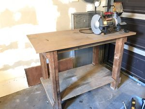 Work bench with Grinder and Wood Clamp Attached for Sale in Harbor City, CA