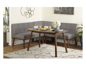 4-Piece Playmate Nook Dining Set, Gray New! Assembled! Great reviews!! for Sale in Richardson, TX