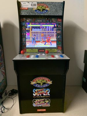 Super Street Fighter II Champion Edition (The New Challengers & Turbo) Arcade Game | Arcade 1UP | Stands 4 Feet Tall! for Sale in Garland, TX
