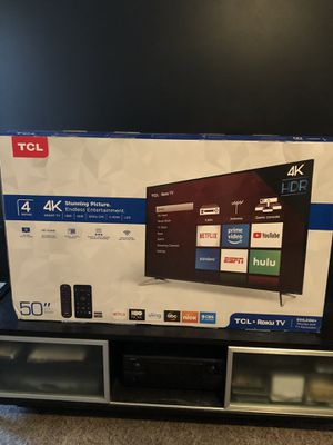 "TCL 50"" smart Roku TV for Sale in Bowie, MD"