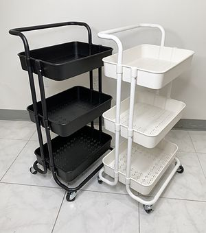 "New $30 each 3-Tier Rolling Utility Cart Mobile Storage Oranizer Home Office 17x14x34"" (2 Color) for Sale in South El Monte, CA"