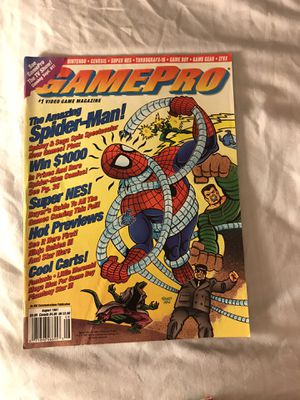 GamePro August 1991 The Amazing Spider-Man for Sale in Eau Claire, WI