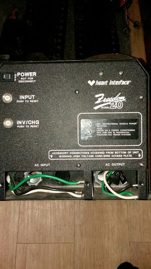 Heart interface freedom model 20 inverter/charger for Sale in Tacoma, WA