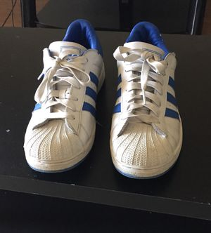 White/blue Adidas Super Star for Sale in Houston, TX