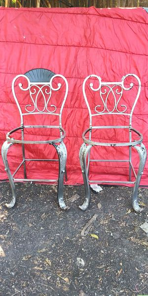 Set of (4) Art Deco Look Metal & Wood Chairs for Sale in Dallas, TX