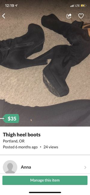 Thigh high heels boots for Sale in Portland, OR