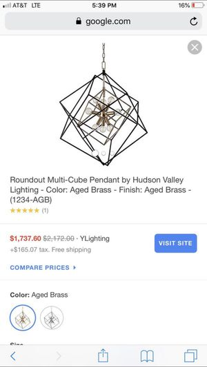 Beautiful new Roundout multi-cube pendant chandelier only 800$!!! Original price 2,172$!!! Sale price 1,902$!!! for Sale in San Leandro, CA