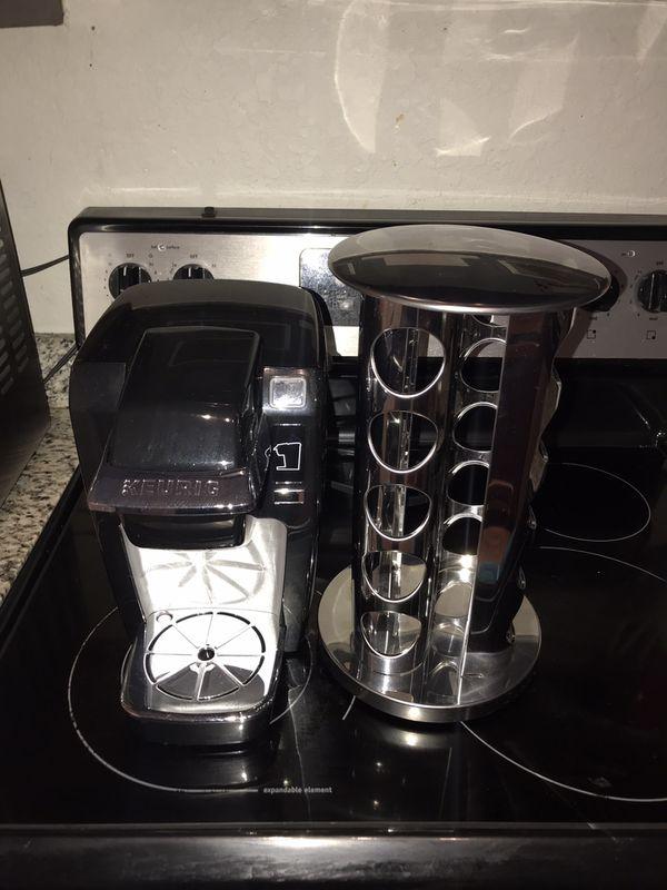 Keurig machine and k- cup holder