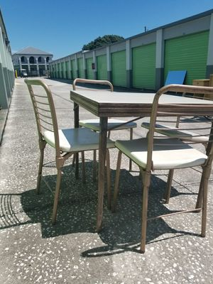 Midcentury modern foldable card table table and chairs dining room set for Sale in Altamonte Springs, FL