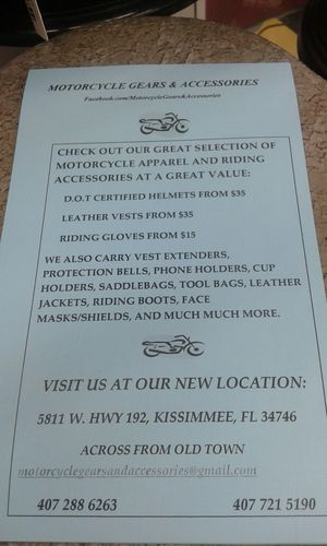 Motorcycle Gear and accessories for Sale in Kissimmee, FL